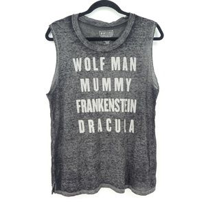 Universal Studios Monsters Soft Burnout Muscle Tee